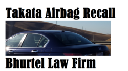 Takata Airbag Safety Recall for Crashworthiness