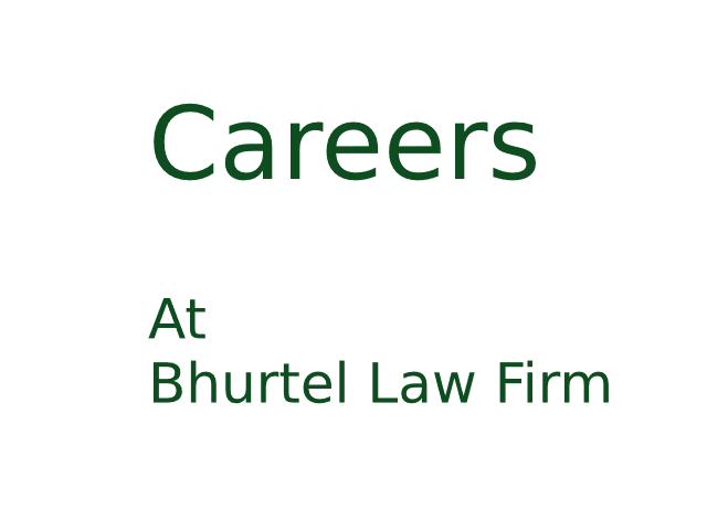 Careers at Bhurtel Law Firm
